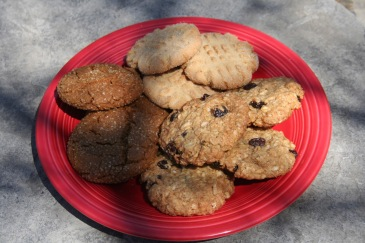 cookies, peanut butter, molasses cookies, oatmeal cookies