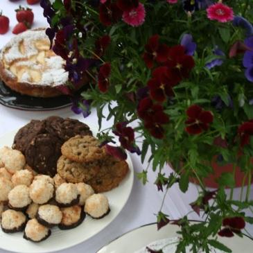 Chocolate Chocolate Chunk Cookies, Oatmeal Chocolate Chip Cookies and Gluten Free Coconut Macaroons
