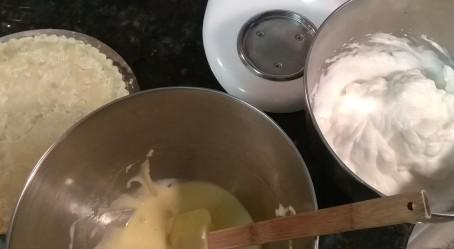 Egg White and Yolks, Apple Cake