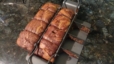 Chocolate Marble Banana Bread Chicago Metallic Slice Solutions Brownie Pan