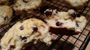 Gluten-Free Scones, Dried Cranberries, Lemon