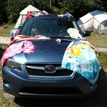 Tie-Dye, Towels and Car